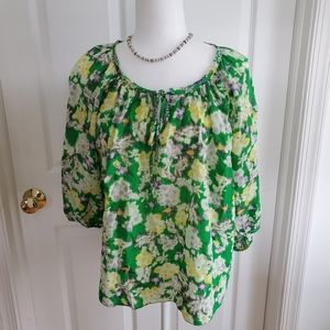 Rebecca's Taylor Sheer Floral Blouse Size 10